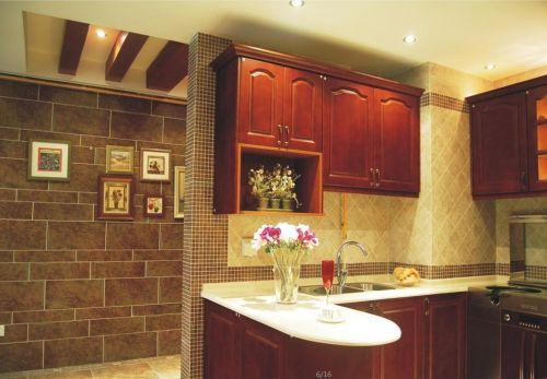 中式古典风格厨房复古式储物柜装修效果图