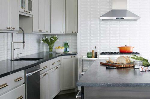 欧式风格典雅精致开放式厨房装修图片