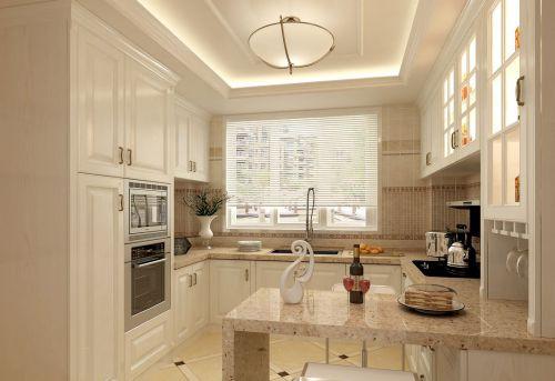 白色别致田园风格厨房装修设计