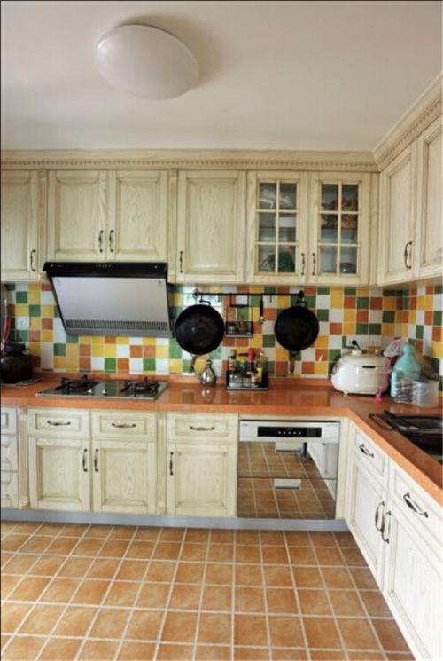 田园风格三居室厨房灯具装修效果图大全