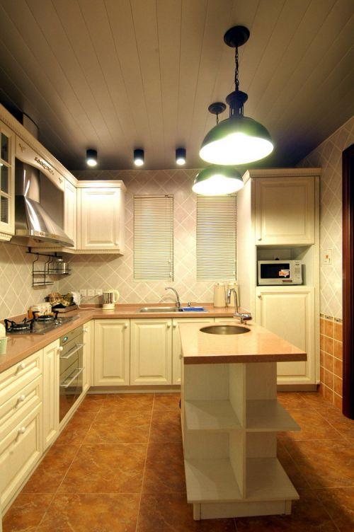 四居室米色田园风厨房装修效果图