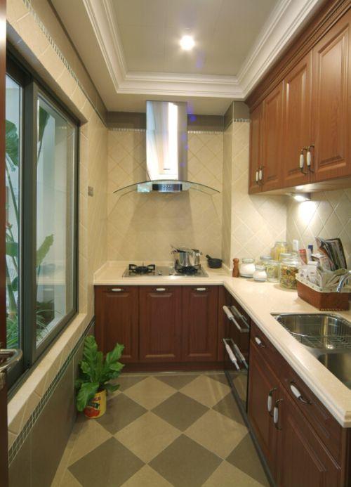 田园风格三居室厨房灯具装修效果图