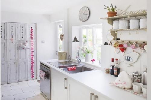 田园风格一居室厨房装修效果图欣赏