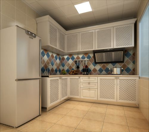 田园风格三居室厨房瓷砖装修图片