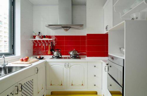 文艺田园风格小户型厨房装修效果图