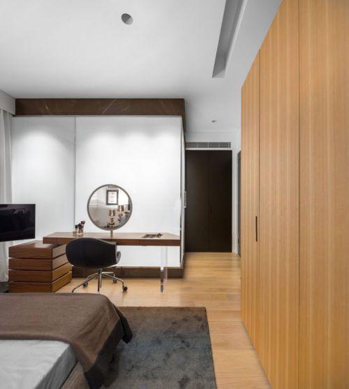 文雅温馨现代风格卧室梳妆台效果图