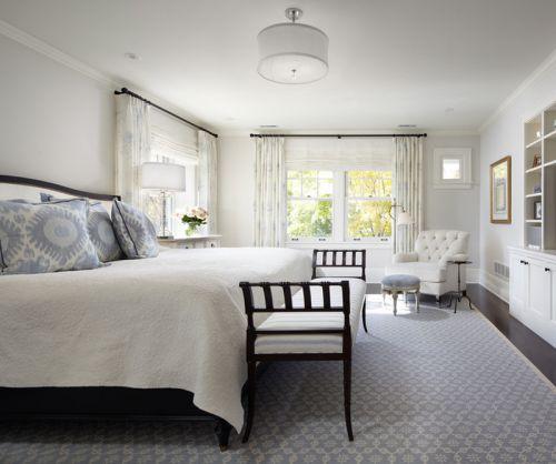 白色现代简约风格淡雅卧室装修效果图