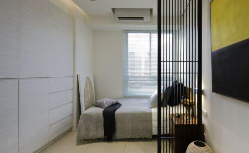 时尚现代风格三居室卧室隔断装修案例