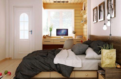 现代简约风格温馨实用卧室装修效果图