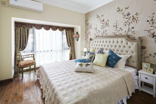 清新现代风格卧室背景墙装修案例