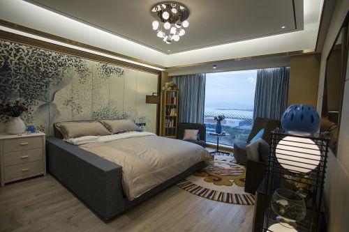 奢华现代风格卧室窗帘效果图欣赏