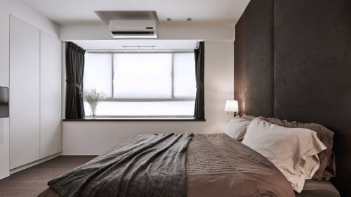 台中市老屋现代黑色卧室装修效果图