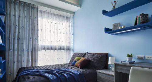 唯美现代风格卧室窗帘效果图