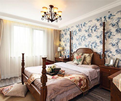 现代流行休闲美式小卧室设计效果图