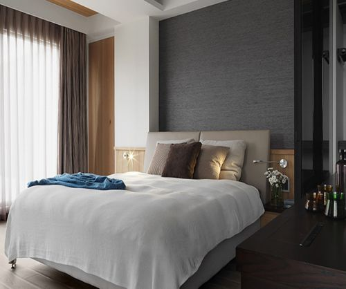 低调稳重现代风格卧室设计效果图