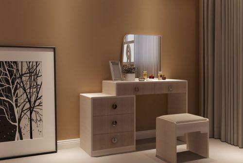现代简约卧室梳妆台装修效果图
