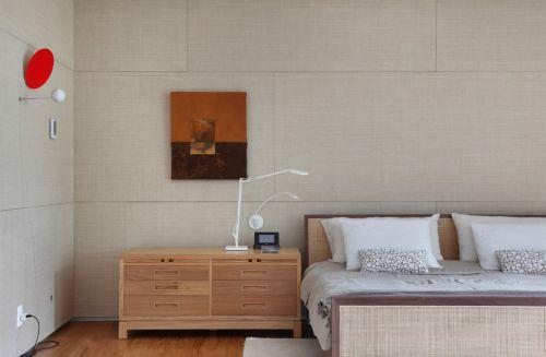 简洁朴素现代风格卧室背景墙装修设计
