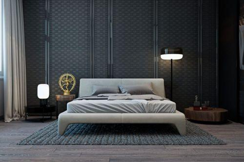 内敛低调现代风格质感卧室装修图片