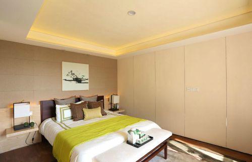 暖意时尚现代风格卧室装修实景图