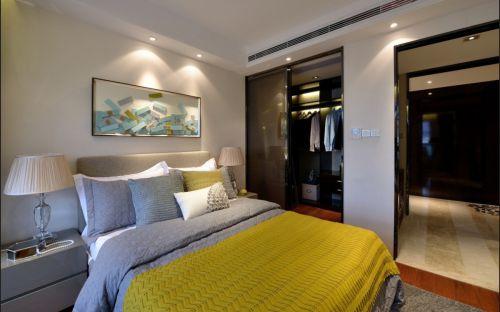 温馨自然现代风格卧室装修实景图