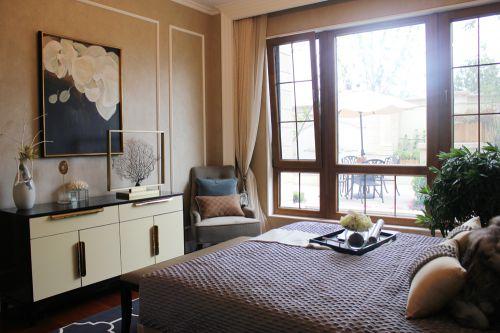 现代美式风格别墅卧室装修效果图大全