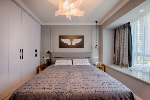 素雅创意现代风格卧室装修实景图