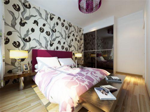现代简约二居室卧室背景墙装修效果图欣赏