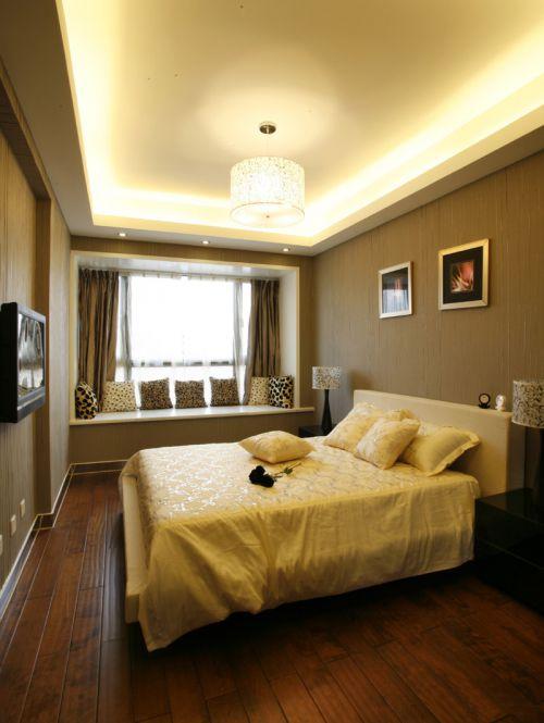 现代中式风格三居室卧室装修效果图大全