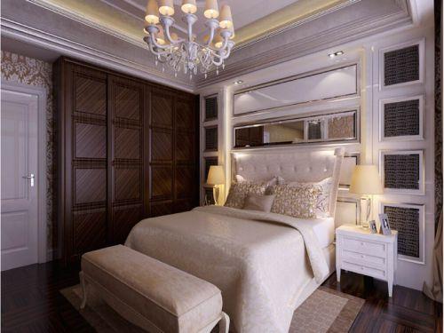 现代简约二居室卧室床装修效果图大全