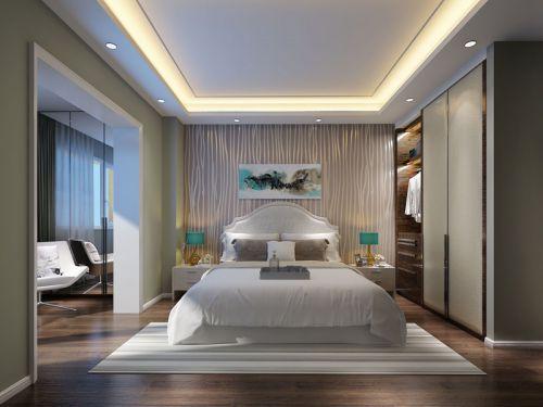 现代简约三居室卧室吊顶装修效果图大全