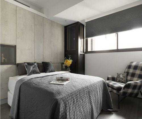 现代简约三居室卧室衣柜装修效果图