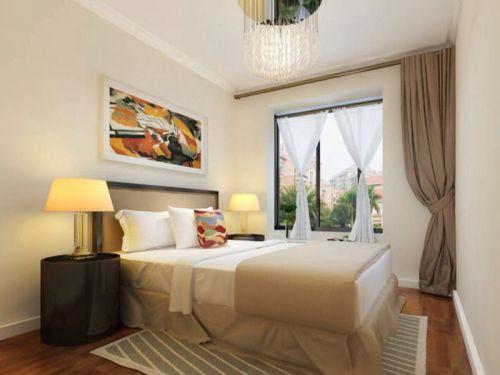 現代簡約二居室臥室飄窗裝修圖片