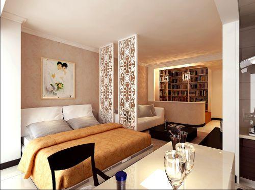 现代简约一居室卧室装修效果图大全
