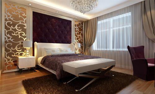 现代简约三居室卧室装修效果图欣赏