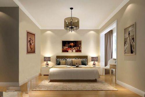 现代简约四居室卧室飘窗装修图片