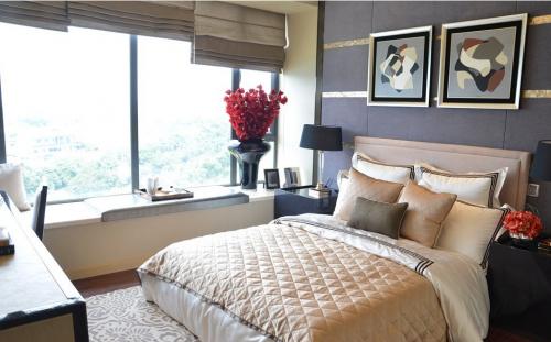 现代风格三居室卧室装修图片欣赏