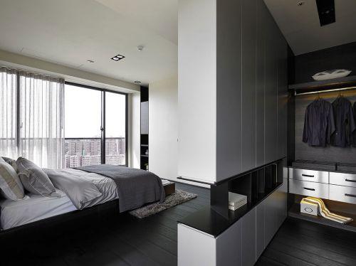 时尚现代风格三居室卧室衣帽间装修案例