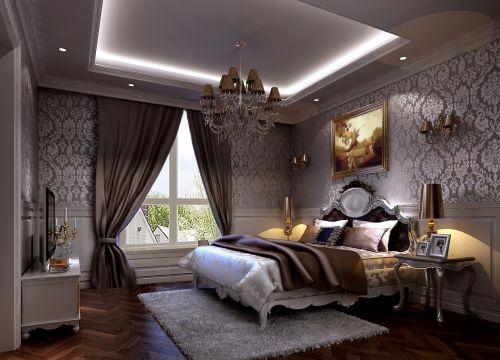 简欧风格四居室卧室床头柜装修效果图大全