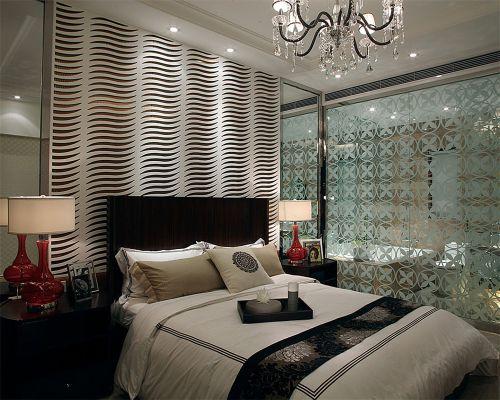 简欧风格二居室卧室壁纸装修效果图大全