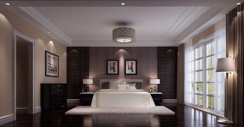 简欧风格五居室卧室背景墙装修效果图