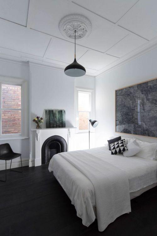 简欧风格纯净雅致卧室装修实景图