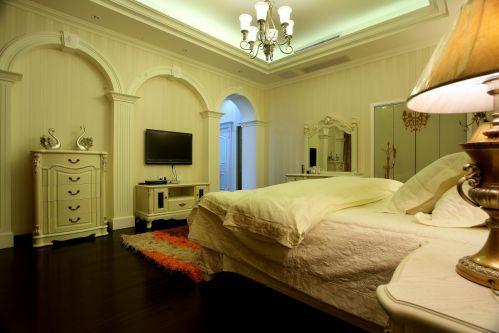 绿色美观简欧风格卧室装修效果图