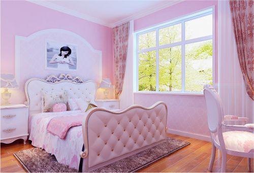 简欧风格三居室卧室床头柜装修效果图欣赏