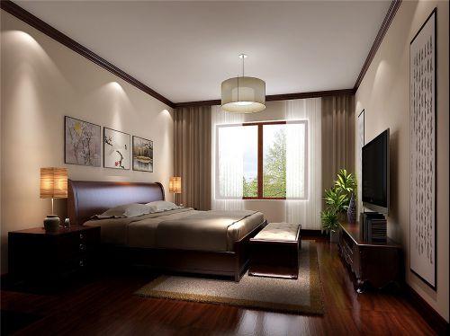 簡歐風格四居室臥室飄窗裝修效果圖