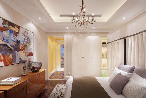 简欧风格卧室白色衣柜装修设计图