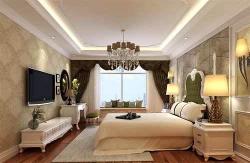 简欧风格三居室卧室装修效果图欣赏