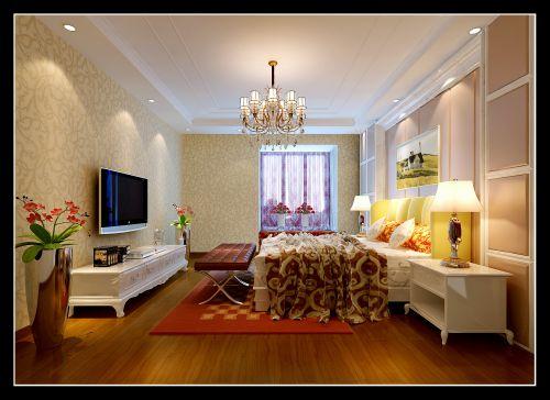 简欧风格四居室卧室茶几装修效果图欣赏