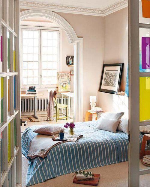 优雅别致简欧风格卧室飘窗实景效果图