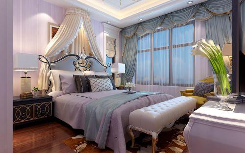 简欧风格六居室卧室壁纸装修效果图欣赏
