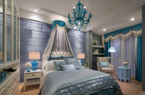 简欧风格三居室卧室床头柜装修效果图